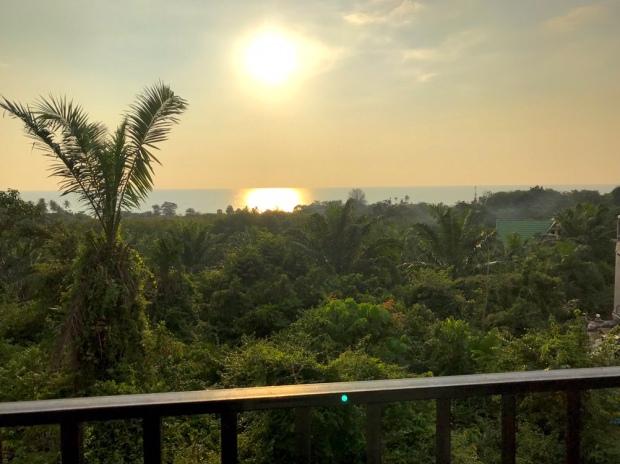 Solnedgång från vårt rum